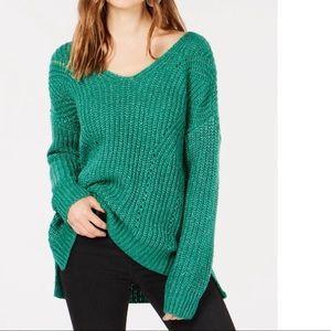 Hippie Rose Criss Cross back Pointelle Sweater